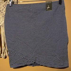 Nautical mini skirt